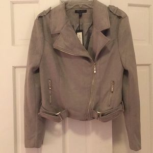 Gray Suede Jacket (nwt!)